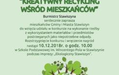 """Więcej o: Regulamin konkursu """"Kreatywny recykling wśród mieszkańców"""""""
