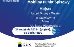 Więcej o: Mobilny Punkt Spisowy w Urzędzie Gminy i Miasta w Stawiszynie